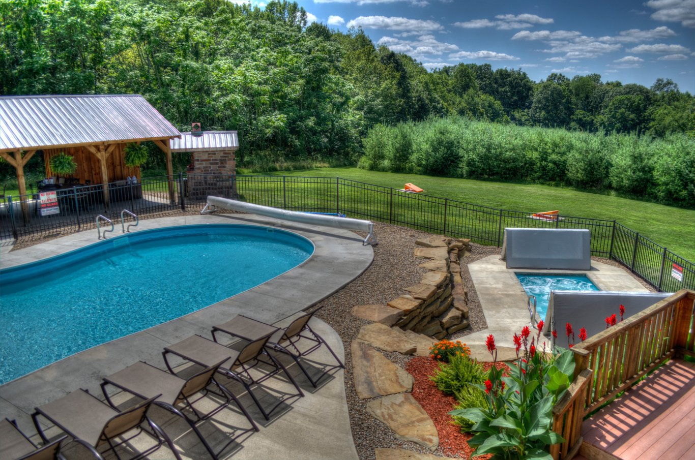 luxury lodge with swimming pool hocking hills | Bourbon