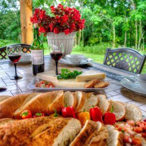 cheese-cracker-bread-bruschetta Hocking Hills Luxury Lodge and Cabins
